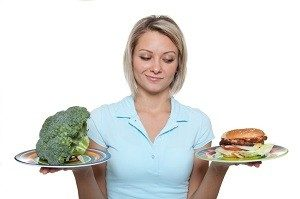 Брокколи и бургер