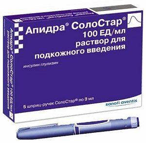 Характеристики и правила применения инсулина Апидра СолоСтар