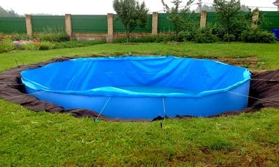 Делаем каркасный бассейн из надувного своими руками