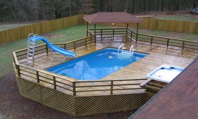 По каким критериям нужно выбирать горку для каркасного бассейна и можно ли сделать своими руками