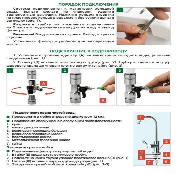 Обзор фильтра Гейзер Био: подробно о модификациях и установке